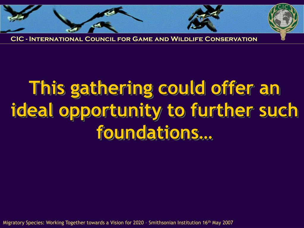 This gathering could offer an ideal opportunity to further such foundations…