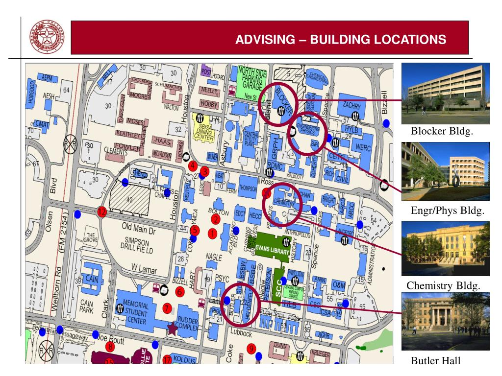 ADVISING – BUILDING LOCATIONS