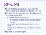 dcf vs dae