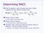 determining wacc