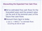 discounting the expected free cash flow