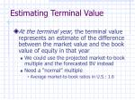estimating terminal value31