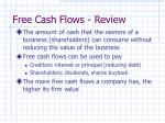 free cash flows review