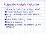 prospective analysis valuation