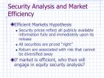 security analysis and market efficiency