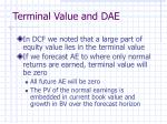 terminal value and dae