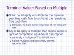 terminal value based on multiple