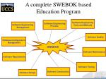 a complete swebok based education program