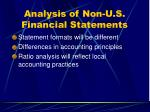 analysis of non u s financial statements