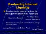 evaluating internal liquidity24