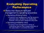 evaluating operating performance