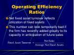 operating efficiency ratios29