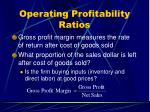 operating profitability ratios31