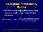 operating profitability ratios35