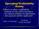 operating profitability ratios36