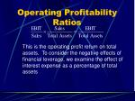 operating profitability ratios41