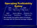 operating profitability ratios42