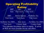 operating profitability ratios43