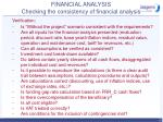 financial analysis checking the consistency of financial analysis45
