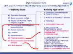 introduction cba as part of project feasibility study basis of funding application