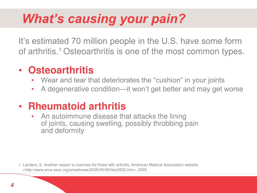 What's causing your pain?