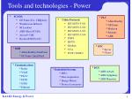tools and technologies power