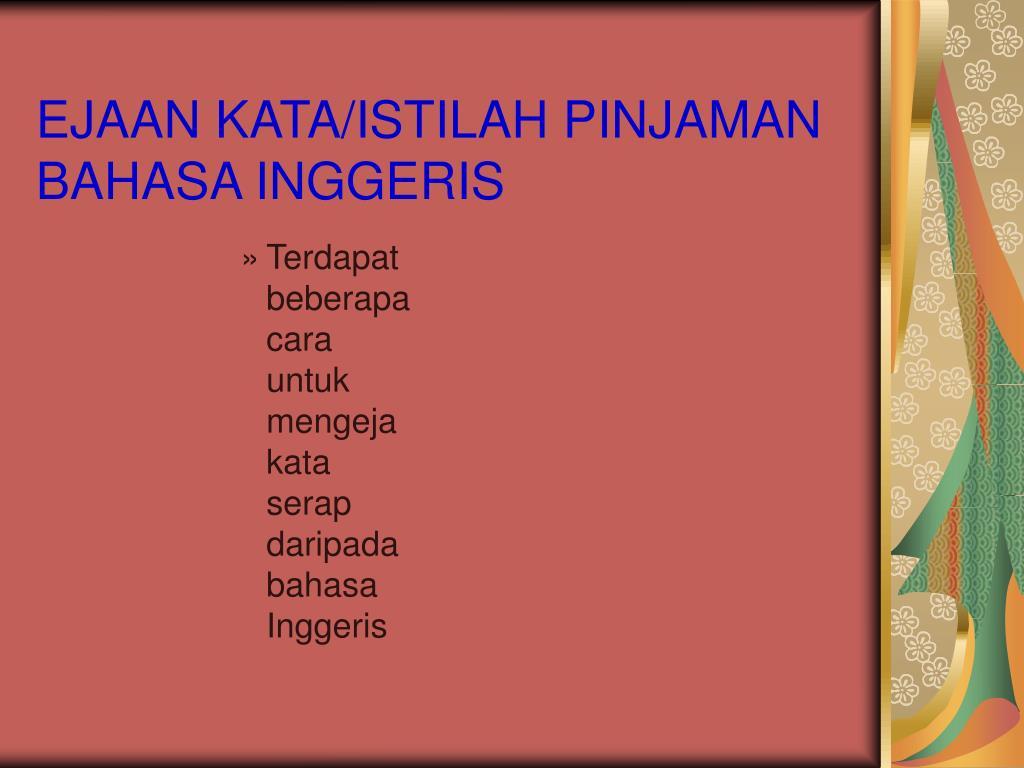 Ppt Sistem Ejaan Dalam Bahasa Melayu Powerpoint Presentation Free Download Id 411766