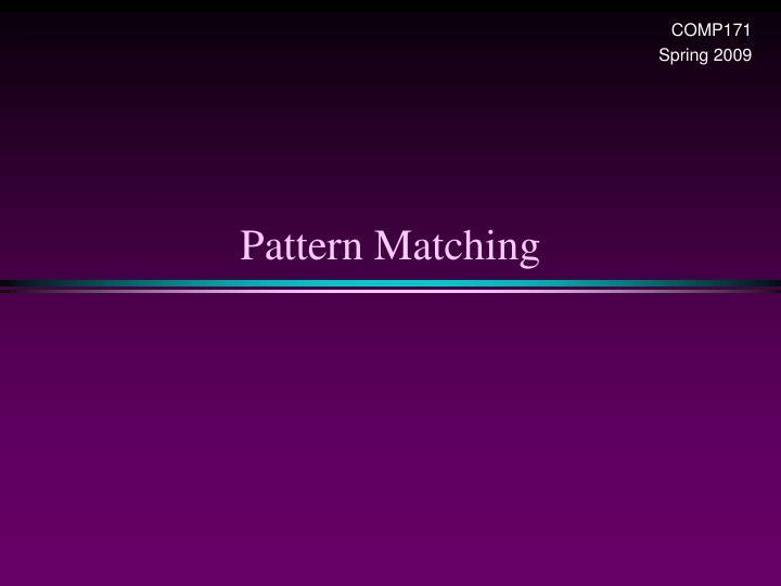 pattern matching n.