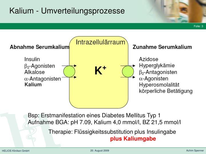 Kalium umverteilungsprozesse