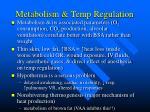metabolism temp regulation