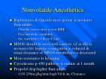 nonvolatile anesthetics