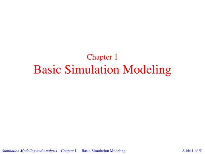chapter 1 basic simulation modeling n.