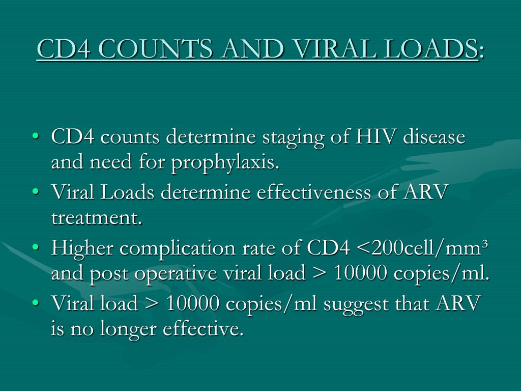 CD4 COUNTS AND VIRAL LOADS