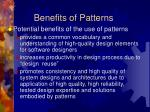 benefits of patterns