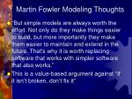 martin fowler modeling thoughts