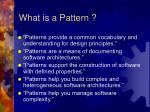 what is a pattern11