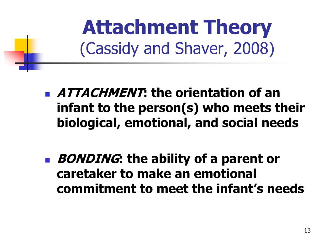 attachment theory childrens attachment to a