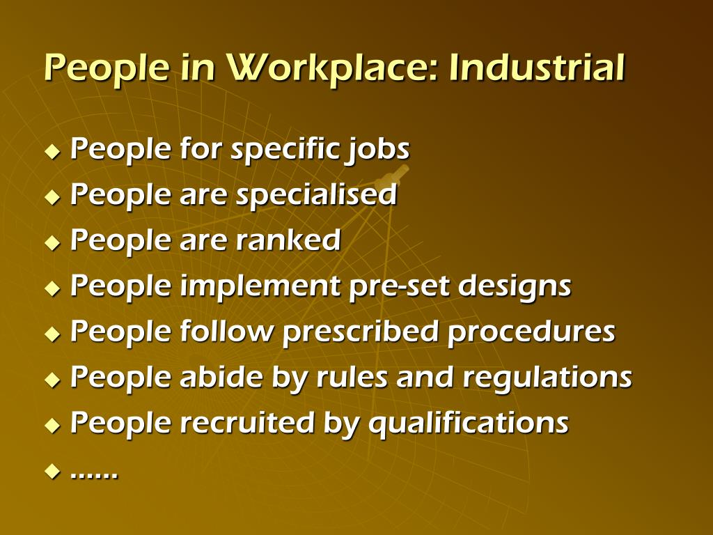 People in Workplace: Industrial