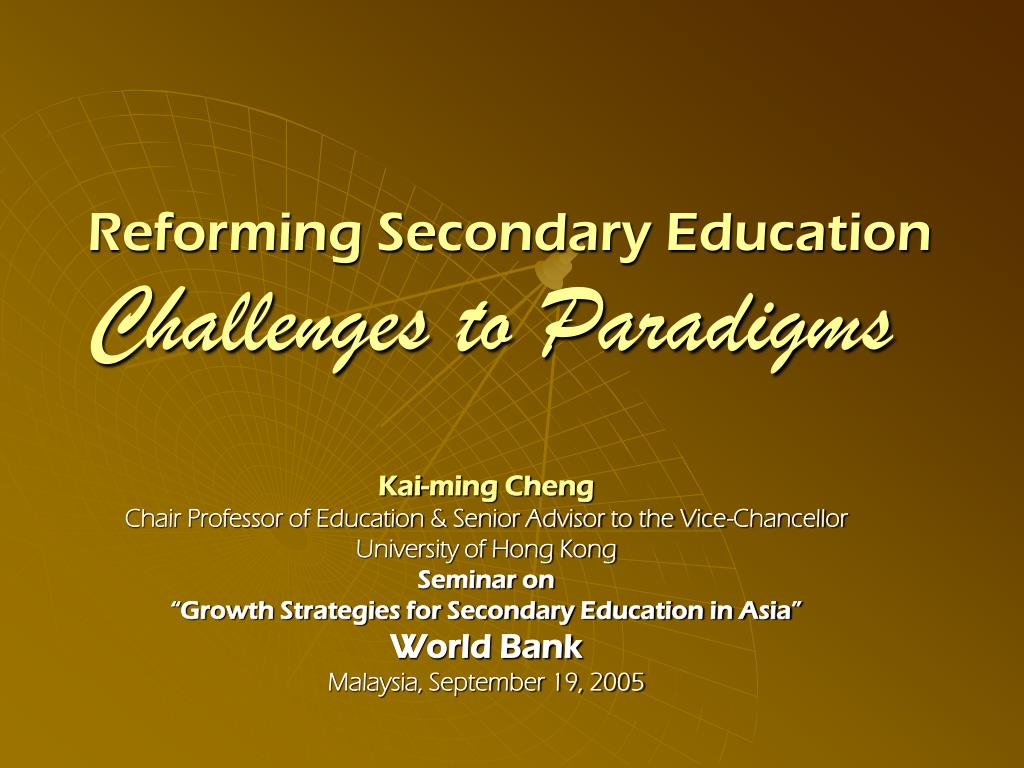 Reforming Secondary Education