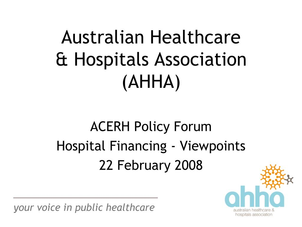 australian healthcare hospitals association ahha l.