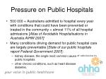 pressure on public hospitals13