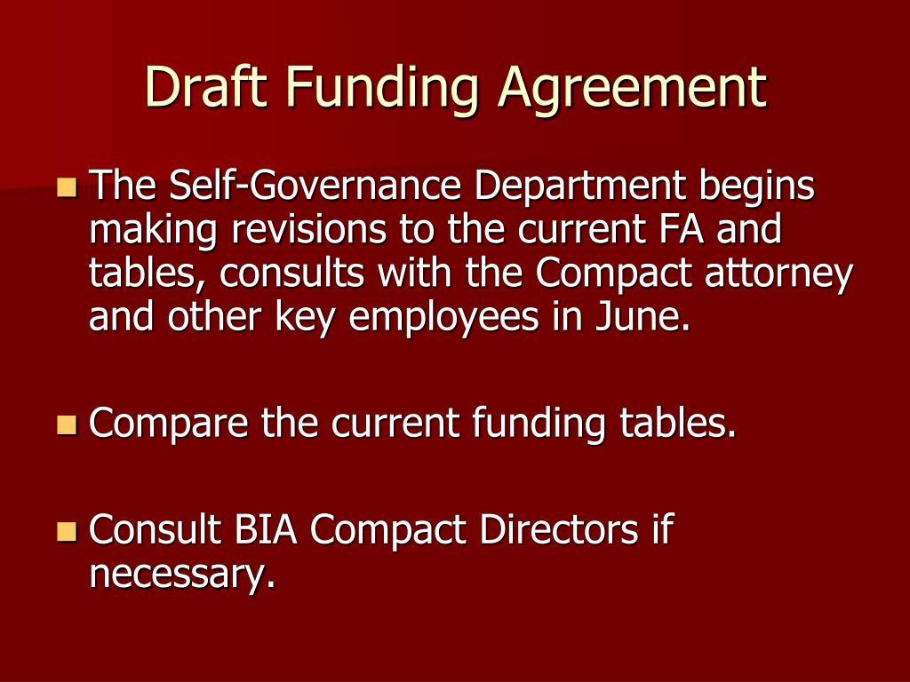 Draft Funding Agreement