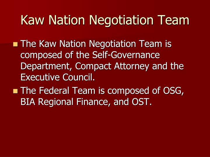 Kaw nation negotiation team