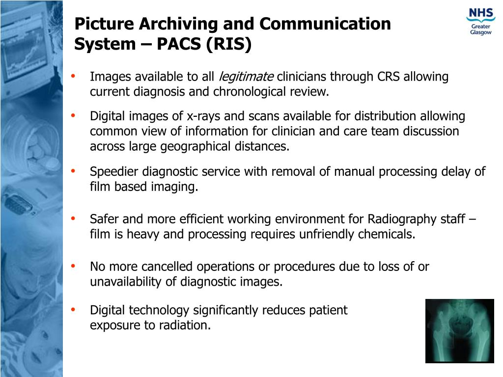 Picture Archiving and Communication System – PACS (RIS)