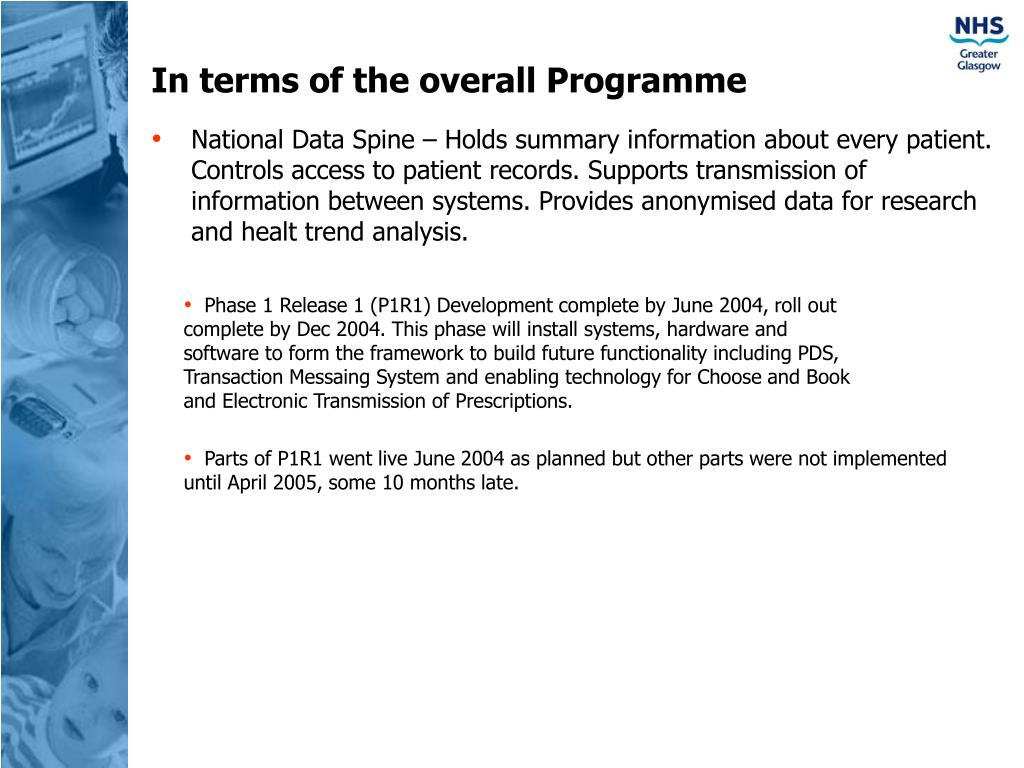 In terms of the overall Programme