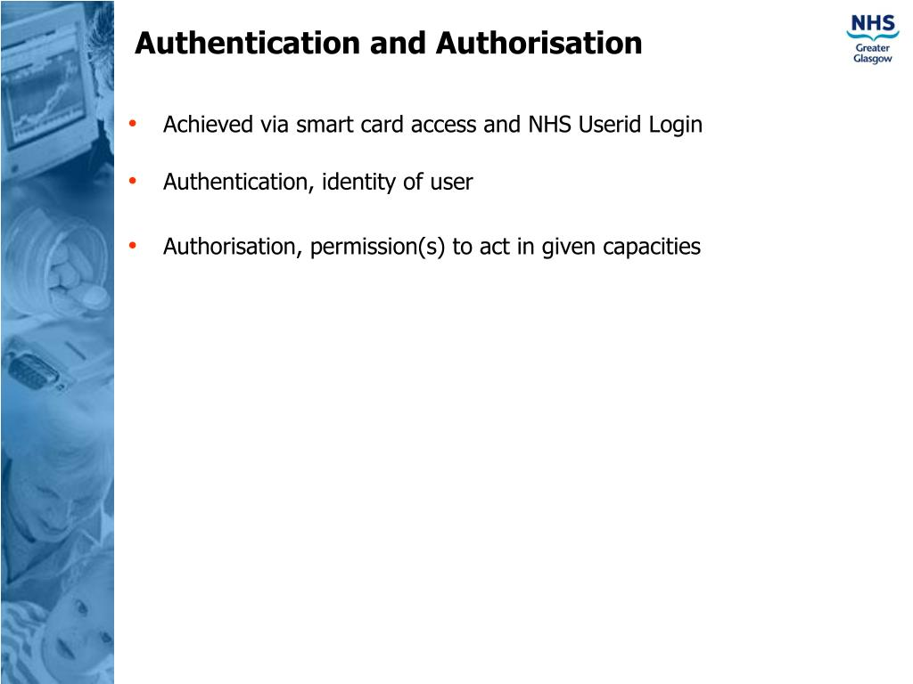 Authentication and Authorisation