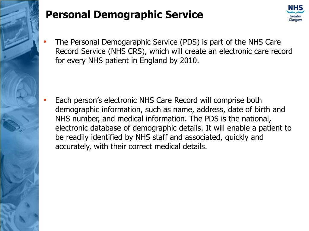 Personal Demographic Service