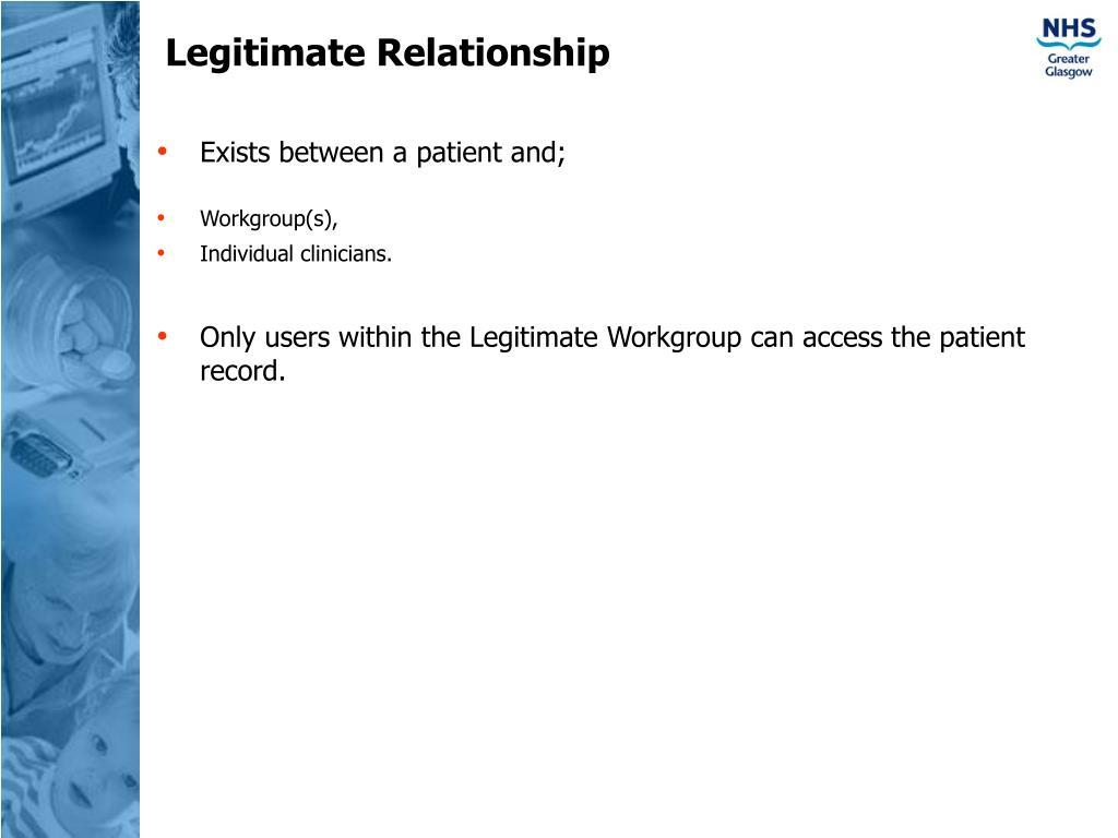 Legitimate Relationship