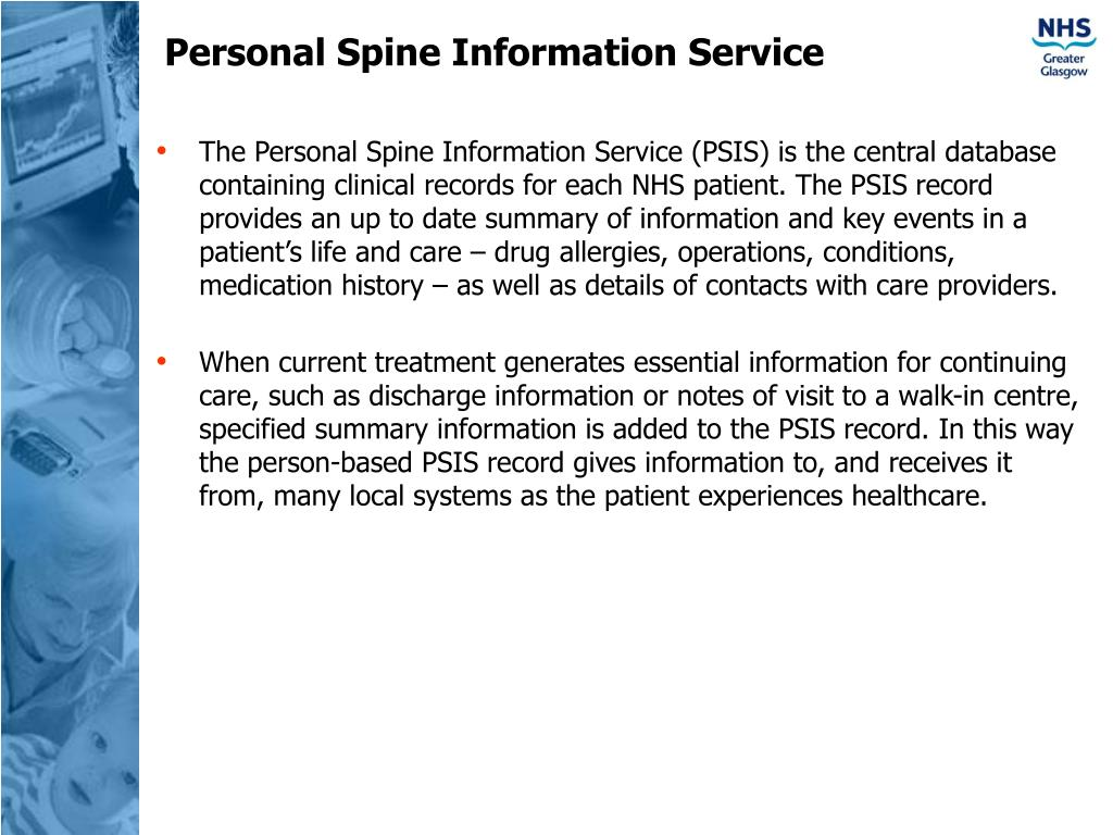 Personal Spine Information Service
