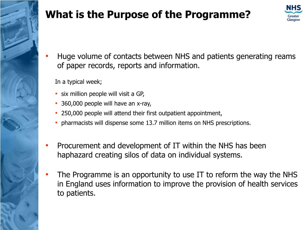 What is the Purpose of the Programme?